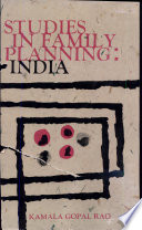 Studies In Family Planning  India