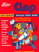 College Board Clep Official Study Guide 2001