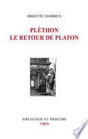 Pl  thon  le retour de Platon