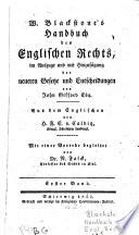Handbuch des englischen Rechts