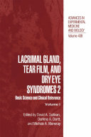 Lacrimal Gland, Tear Film, and Dry Eye Syndromes 2