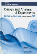 Design And Analysis Of Experiments book