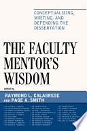 The Faculty Mentor s Wisdom