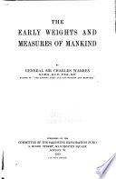 The Early Weights and Measures of Mankind