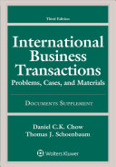 International Business Transactions  3rd Edition Document Supplement