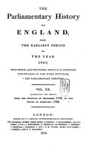 download ebook the parliamentary history of england from the earliest period to the year 1803 pdf epub