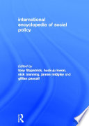 International Encyclopedia Of Social Policy : offers an in-depth treatment of all aspects...