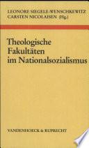 Theologische Fakultäten im Nationalsozialismus
