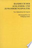 Handbuch der Ausländer- und Zuwanderungspolitik