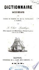Dictionnaire moderne des termes de marine et de la navigation à vapeur