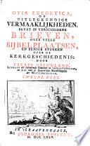 Lectiones Exegeticae of Uitlegkundige Vermaakelykheden