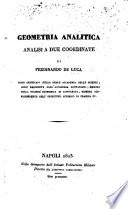 Geometria analitica: analisi a due coordinate