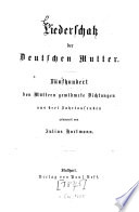 Liederschatz der Deutschen Mutter