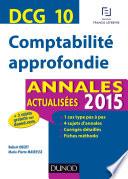 DCG 10 - Comptabilité approfondie 2015