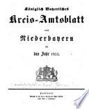 Königlich-Bayerisches Kreis-Amtsblatt von Niederbayern