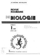 Revue Roumaine de Biologie. Série de Biologie Animale