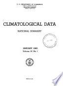 Climatological Data National Summary