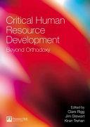 Critical Human Resource Development