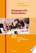 Bolognagerechte Hochschullehre