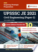UPSSSC JE Paper 2 Civil Engineering  Concerned Subject  2021   10 Mock Test Book PDF