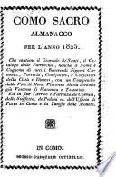 Almanacco ecclesiastico della citta e diocesi di Como