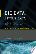 Big Data  Little Data  No Data
