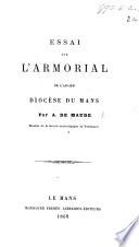 Essai sur l'armorial de l'ancien diocèse du Mans