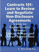 Contracts 101  Learn to Review and Negotiate Non Disclosure Agreements