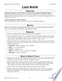 Louis Braille Reader s Theater Script and Lesson