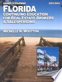 Florida Continuing Education for Real Estate Brokers   Salespersons