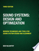 Sound Systems  Design and Optimization