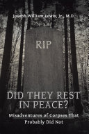 Did They Rest in Peace? Book