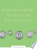 A Bibliography of English Etymology