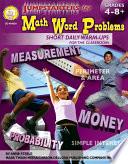 Jumpstarters for Math Word Problems  Grades 4   8