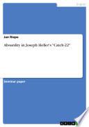 Absurdity in Joseph Heller s  Catch 22