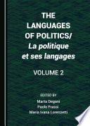 The Languages of Politics/La politique et ses langages Volume 2