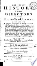 The Secret History of the Late Directors of the South Sea Company