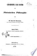 Geschichte und system der platonischen Philosophie von Karl Fr  Hermann