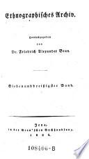 Ethnographisches Archiv, hrsg. von Friedrich Alexander Bran