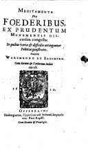 download ebook meditamenta pro foederibus pdf epub