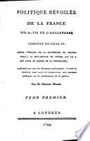 Politique Dévoilée de la France Vis-a-vis de L'Angleterre