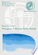 Perception Of Moving Tactile Stimuli book