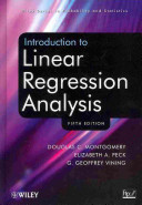 Introduction to Linear Regression Analysis  Fifth Edition Set