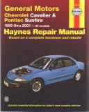 Chevrolet Cavalier&Pontiac Sunfire 1995-2001 Workshop Service repair manual