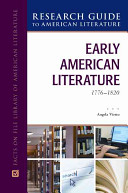 Early American Literature  1776 1820
