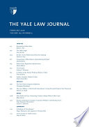 Yale Law Journal  Volume 125  Number 4   February 2016