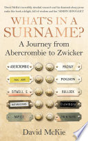What s in a Surname