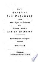 Der Substitut des Behemoth oder Leben  Thaten und Meinungen des kleinen Ritters Tobias Rosemond