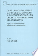 Case Law on Equitable Maritime Delimitation