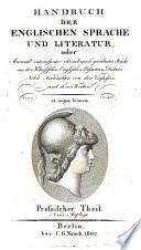 Handbuch der englischen Sprache und Literatur